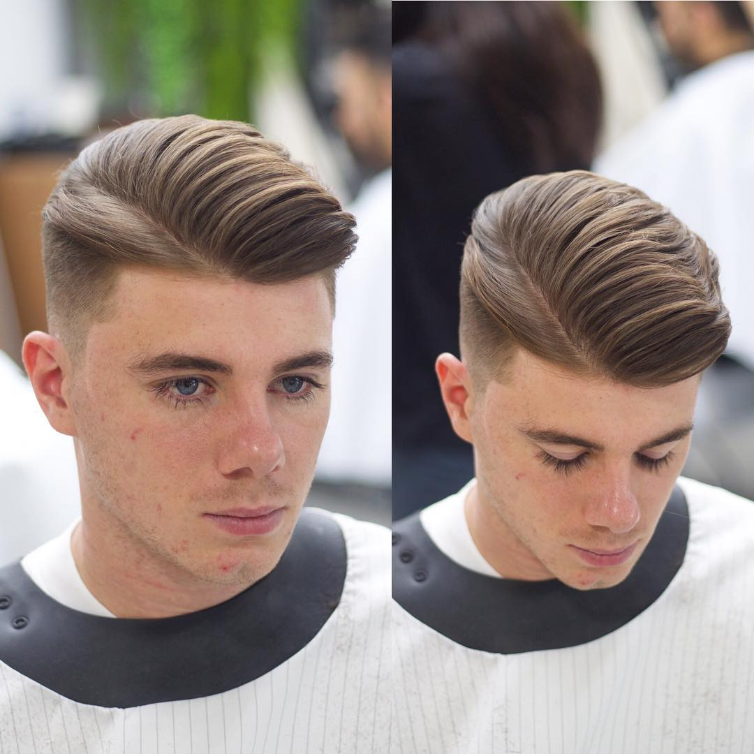 alan_beak one side pomp side part haircuts 2018