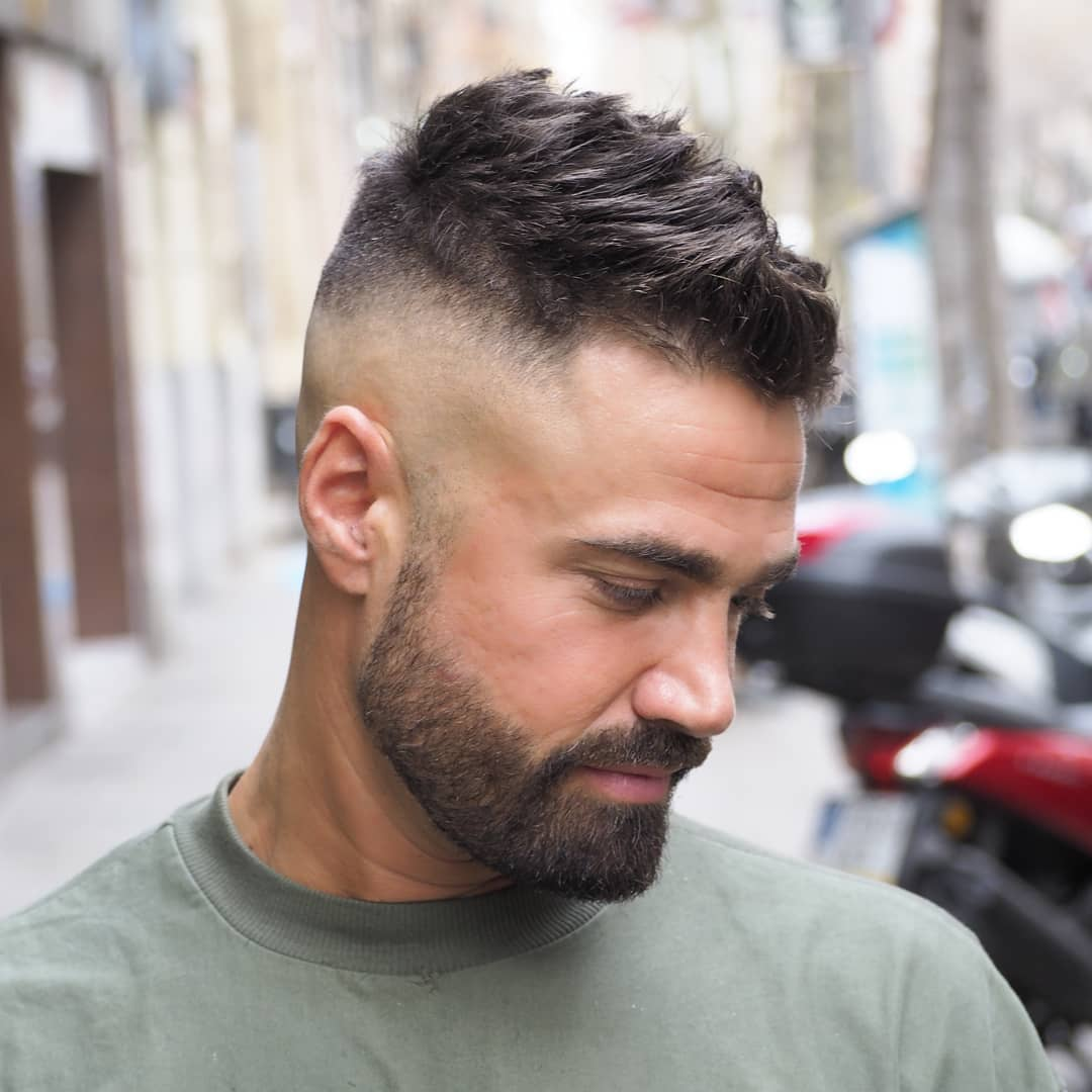High Skin Fade Haircut With Beard Haircuts Models Ideas
