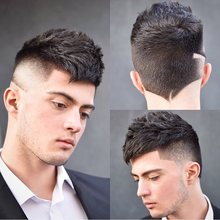 Latest 2018 Popular Neckline Hair Design Mens Hairstyles