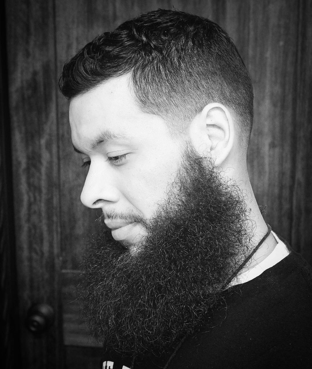 barbermikethomas High messy beard with high fade cool haircuts for mens with thick hair