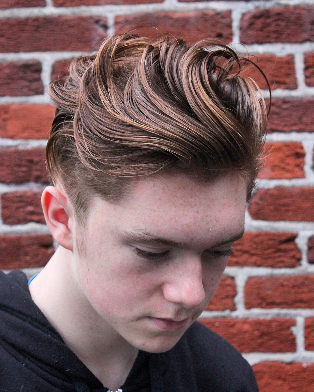 barbermikethomas medium length hair pomp layers mens haircuts