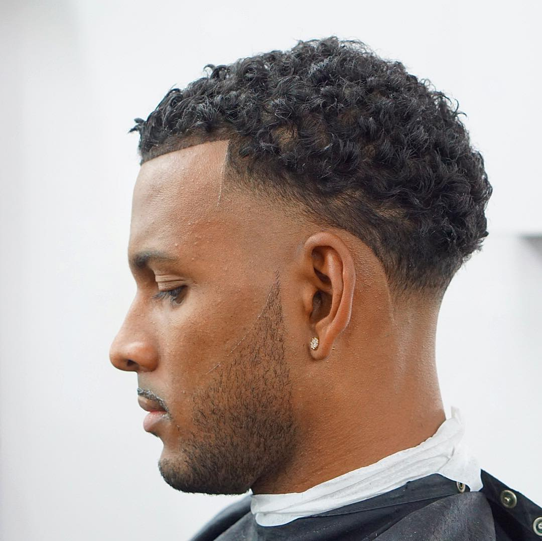 criztofferson curly side part bald fade best hairstyle for men the gentleman haircut