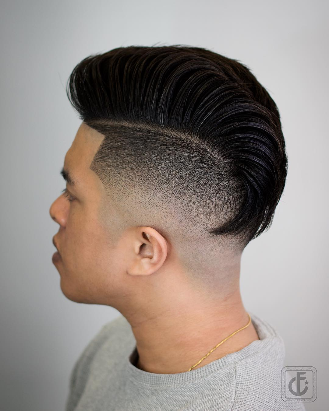 cuttyfresh high skin fade The Pompadour Haircut