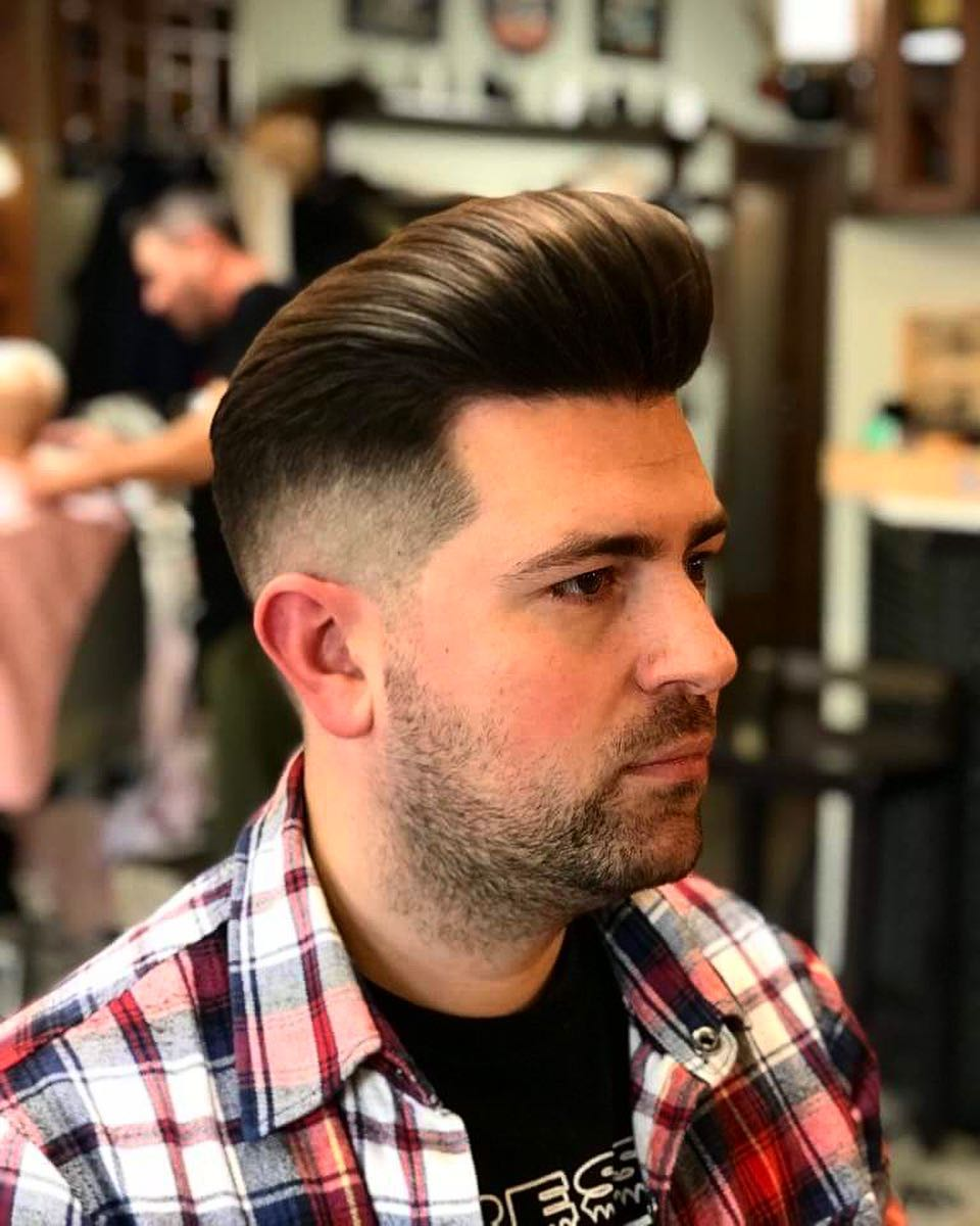 dons_cuts tall pomp with low fade side part haircuts 2018