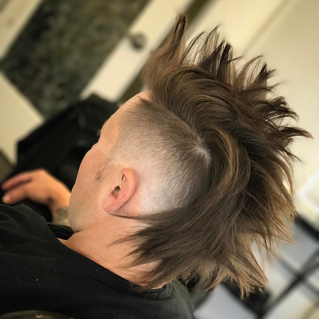 drehair mohawk skin fade long hairstyles for men 2018