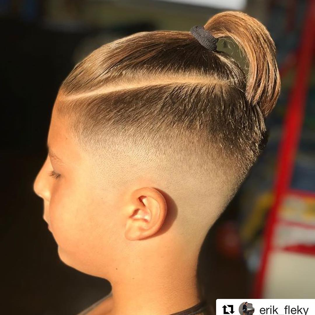 javi_thebarber_ drop fade ponytail long hairstyles for men 2018