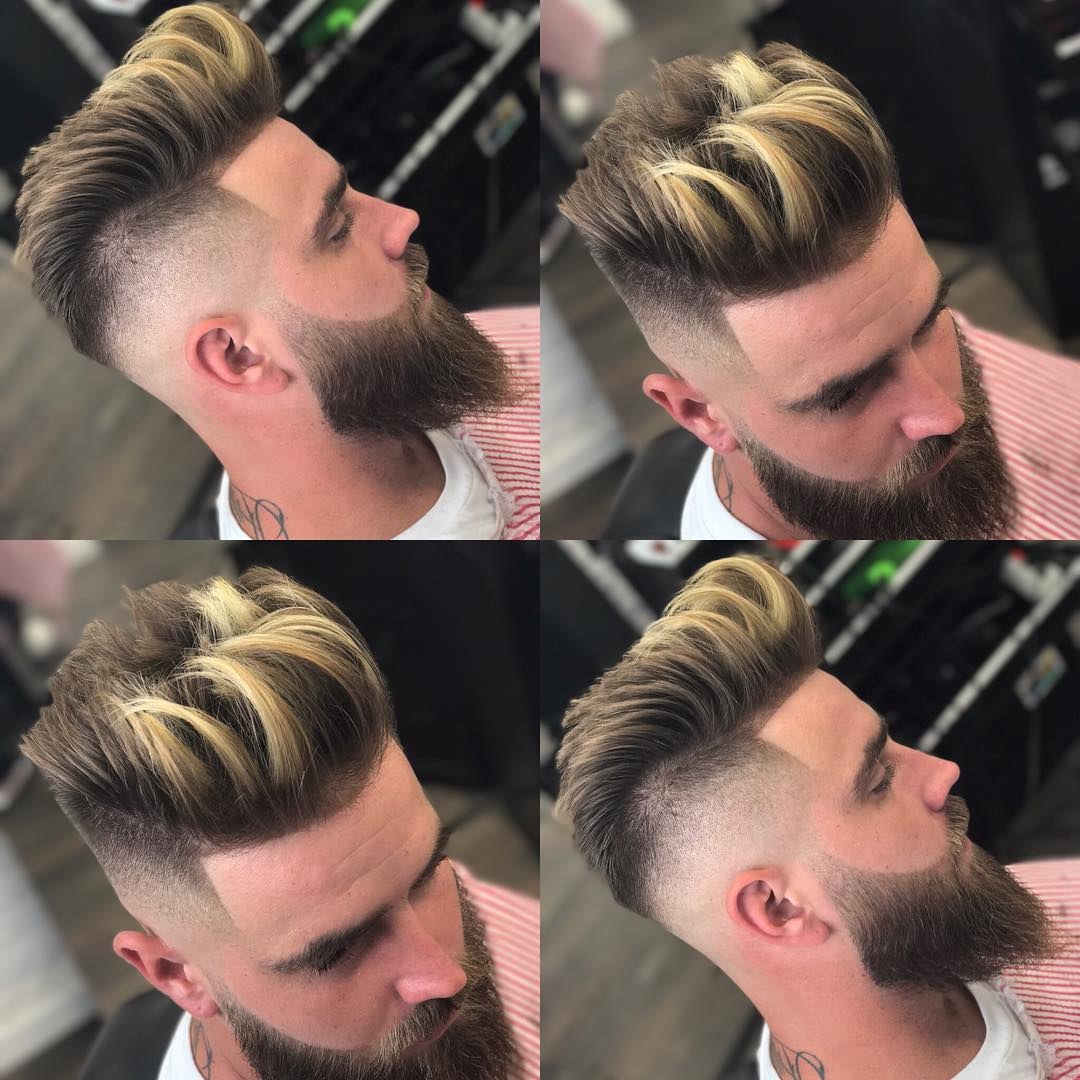 jose_privilegebarber pompadour line up long hairstyles for men 2018