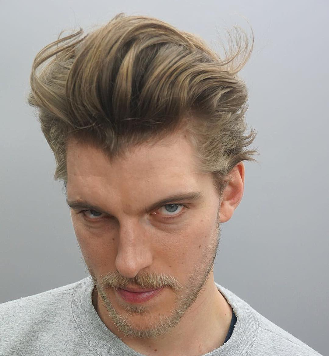 joshlamonaca textured hairstyle pompadour long hairstyles for men 2018