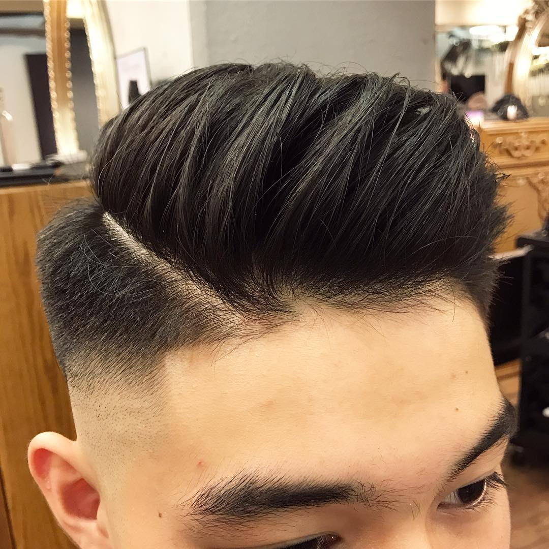 kithl side part haircut skin fade Popular The Pompadour Haircut