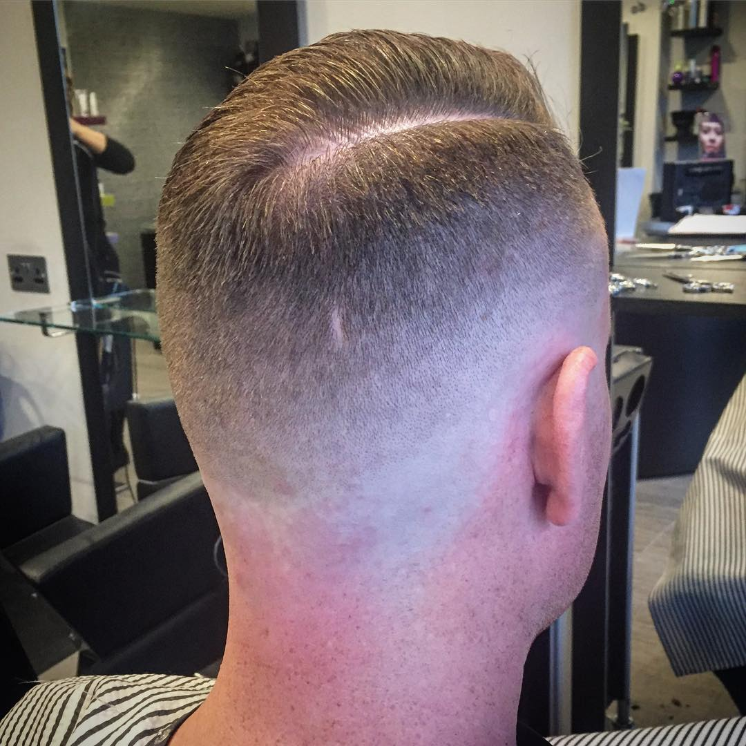 lewy_chewy slicked back fade up skin fade cool haircuts for mens with thick hair