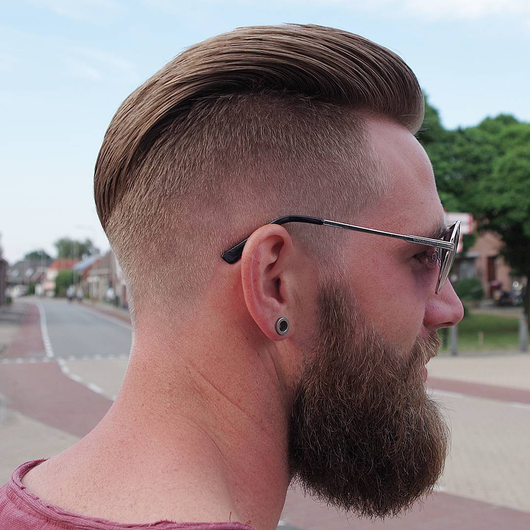 mensworldherenkappers long slick back with huge beard long hairstyles for men 2018
