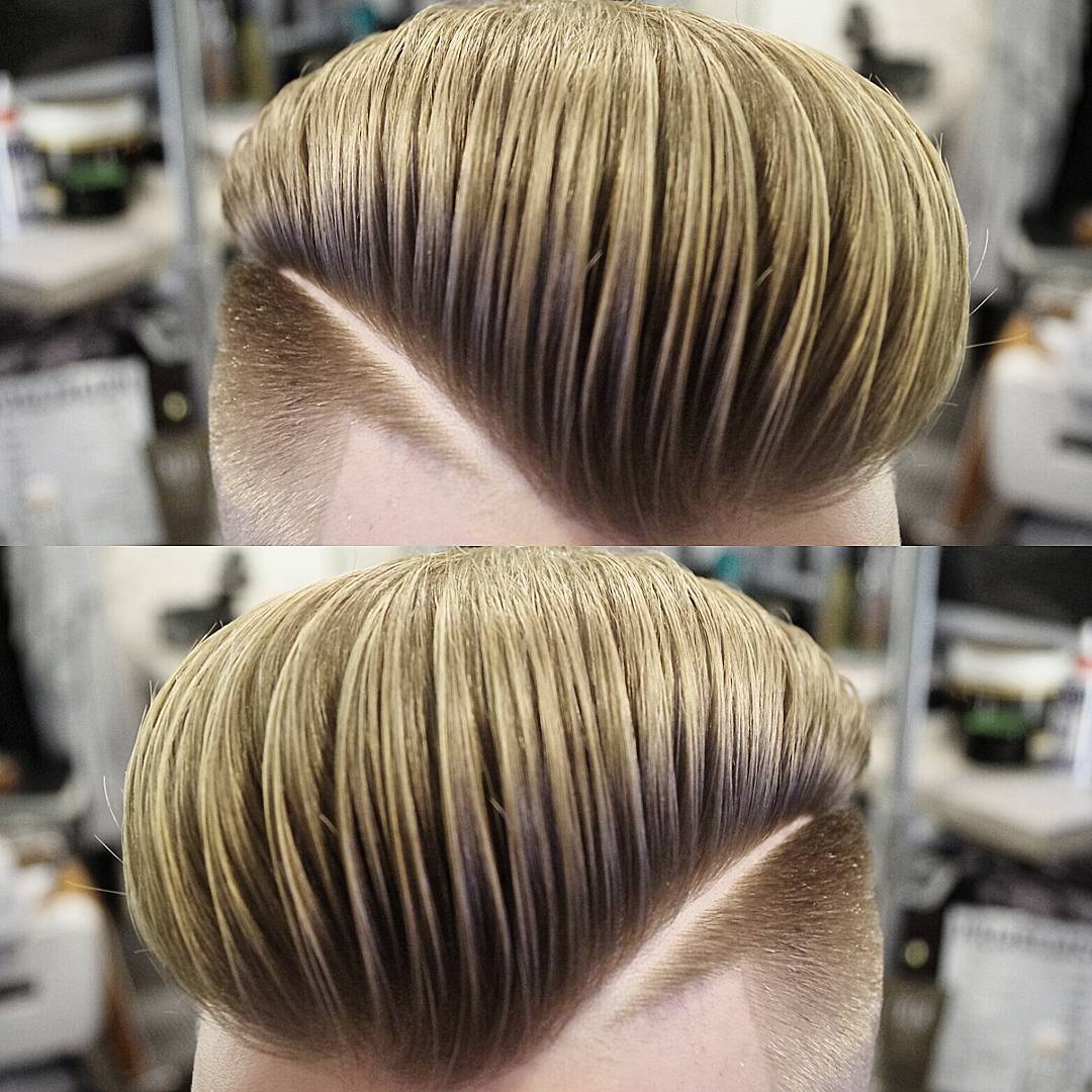 mensworldherenkappers puff pompadour haircuts side part shaved line medium length haircuts 2018