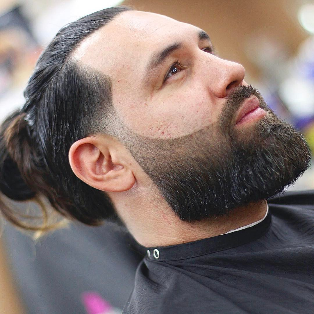 nickthebarber man bun line up beard style long hairstyles for men 2018