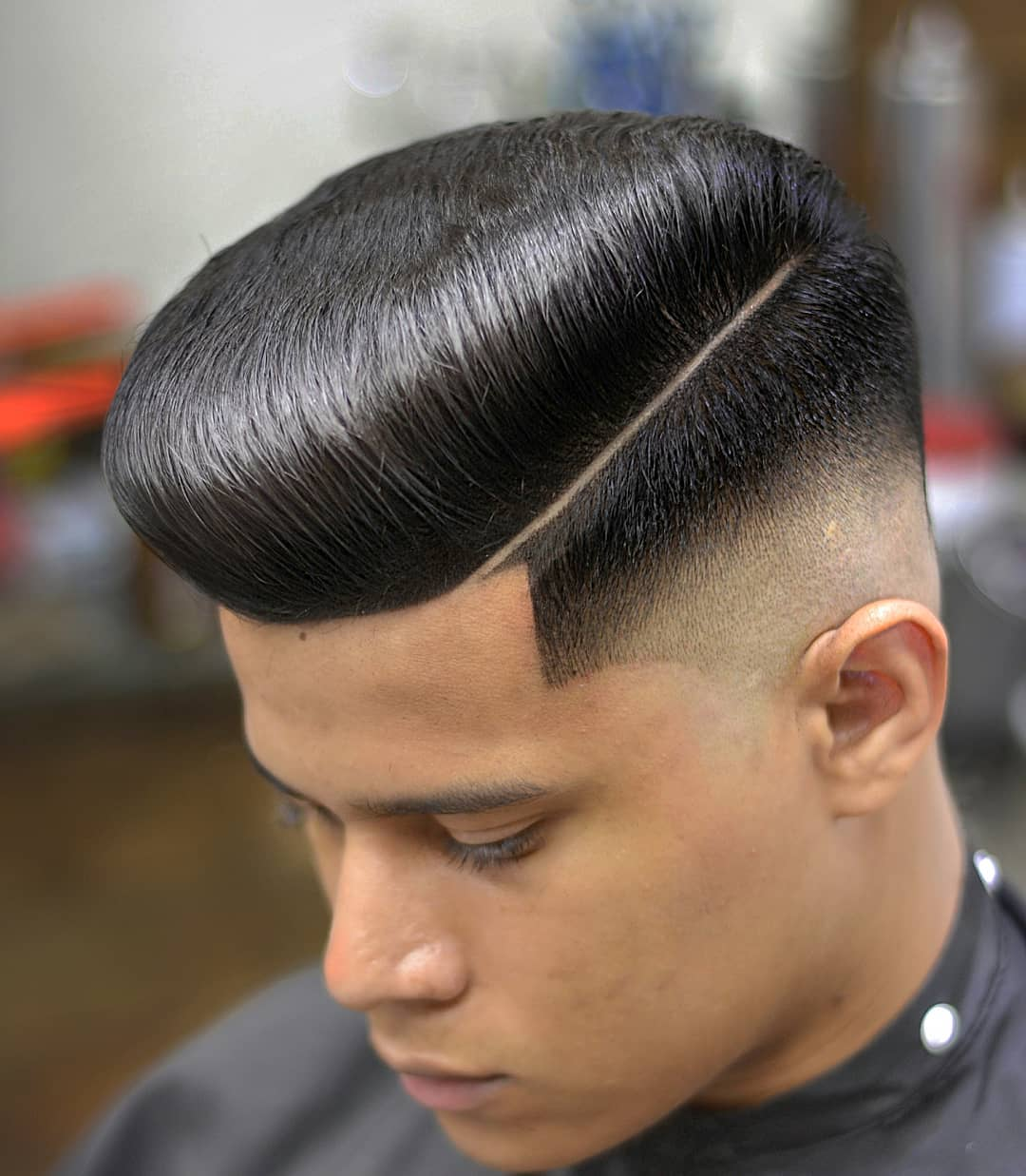 oficial_tubarao_do_corte flat top pomp Popular The Pompadour Haircut