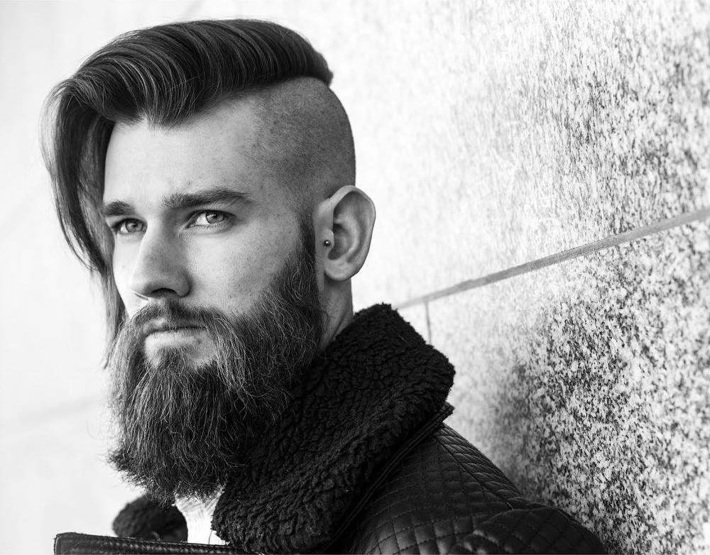 r.braid barber side part bald long textured layers long hairstyles for men 2018