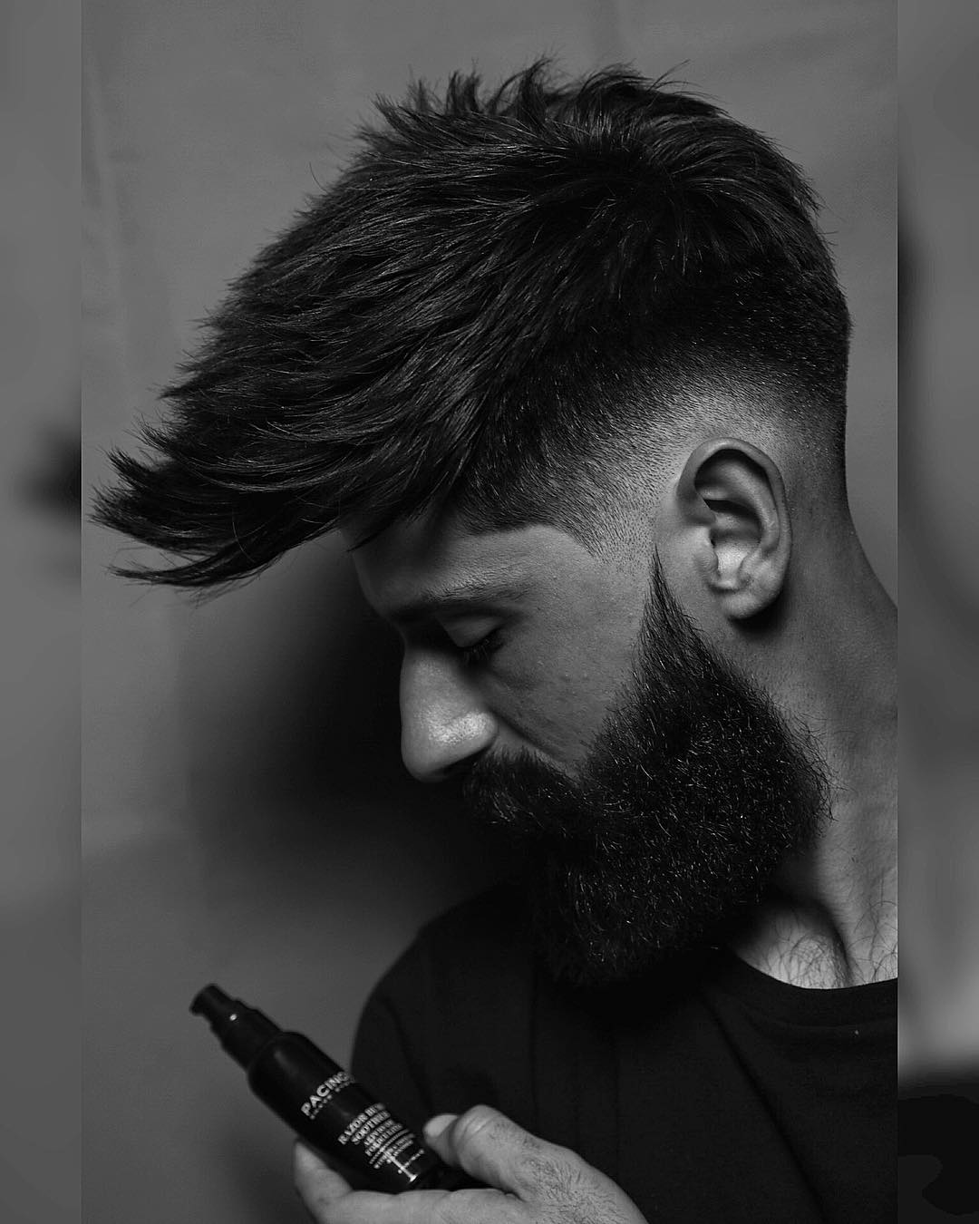 rafa_underground medium length spikes huge beard latest mens hairstyles 2018