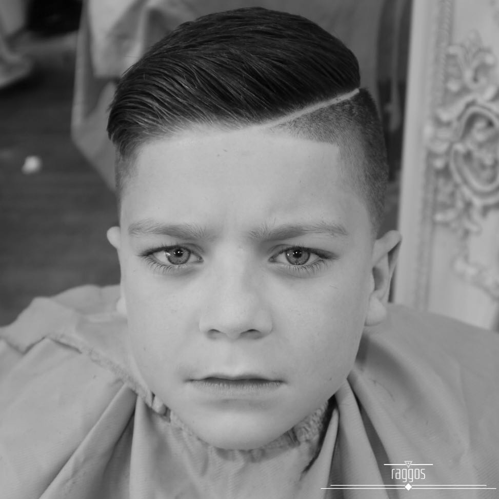 raggos_barbering comb over short pomp side part shaved line boys fade haircuts