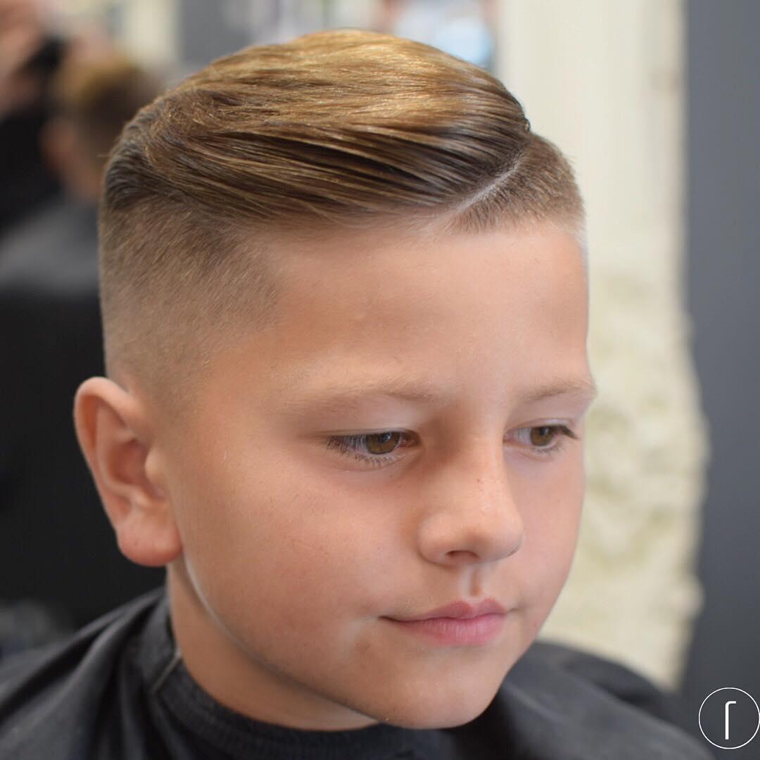 raggos_barbering comb over side part high fade razor line boys fade haircuts