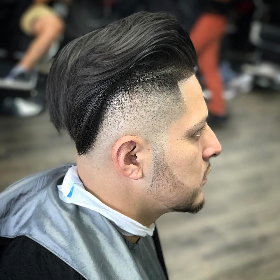rickythebarber_ long hair pompadour bald fade long hairstyles for men 2018