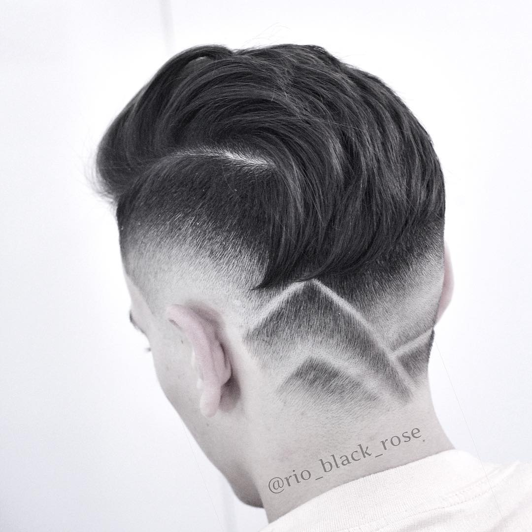 rio_black_rose reverse fade razor line design mens haircuts neck design neckline hair