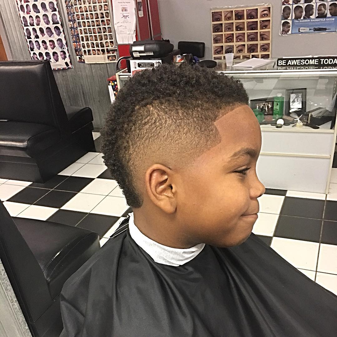 ronnelljones9696 curly top mohawk side part bald fade boys fade haircuts