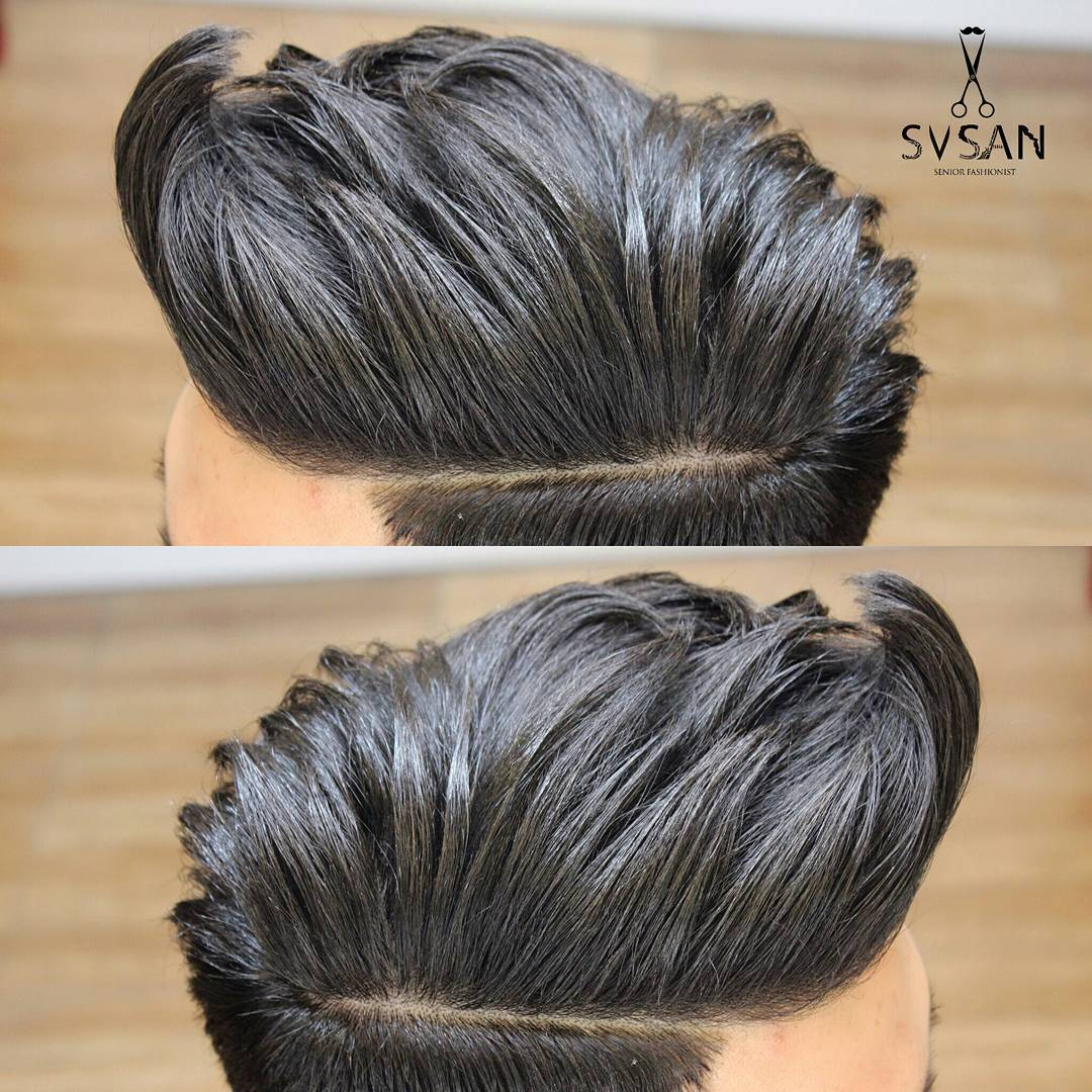 s.v.s.a.n shaved razor line on side part haircuts 2018