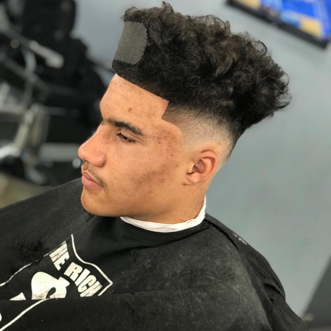 under8edbarbers upper top curly hair side part taper fade cool haircuts for mens with thick hair