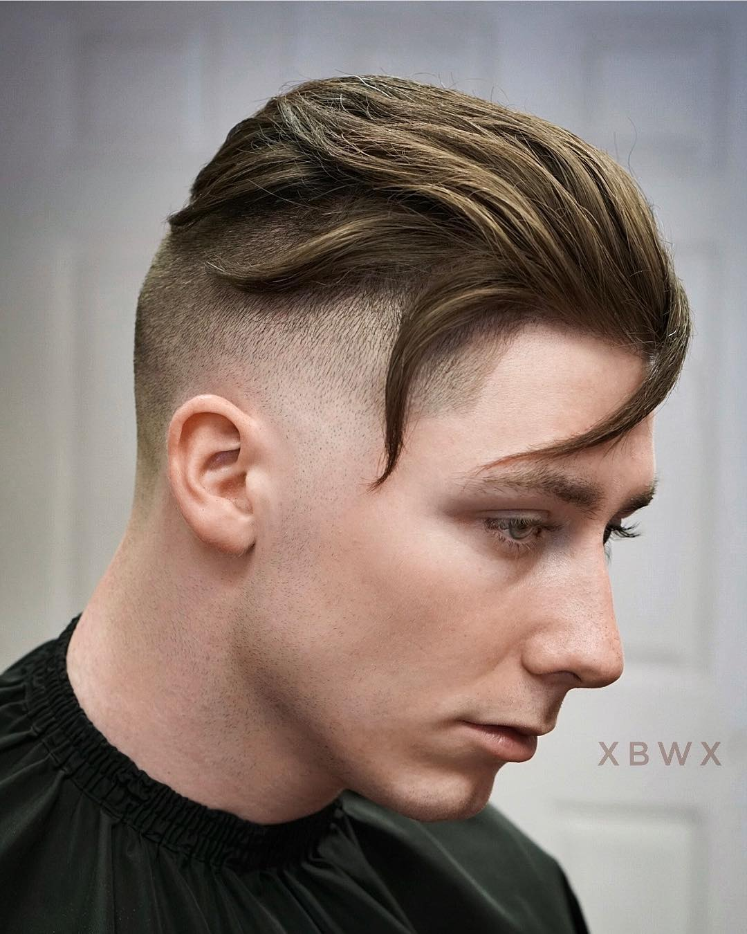 xbigwesx high textured layers with bald fade cool haircuts for mens with thick hair