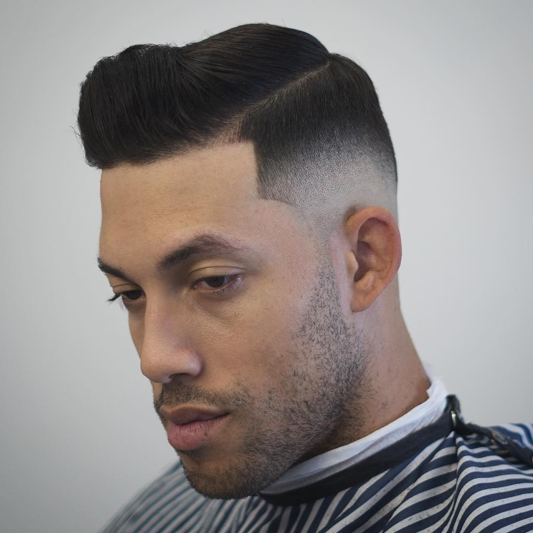 zeke_the_barber short pomp skin fade best hairstyle for men the gentleman haircut