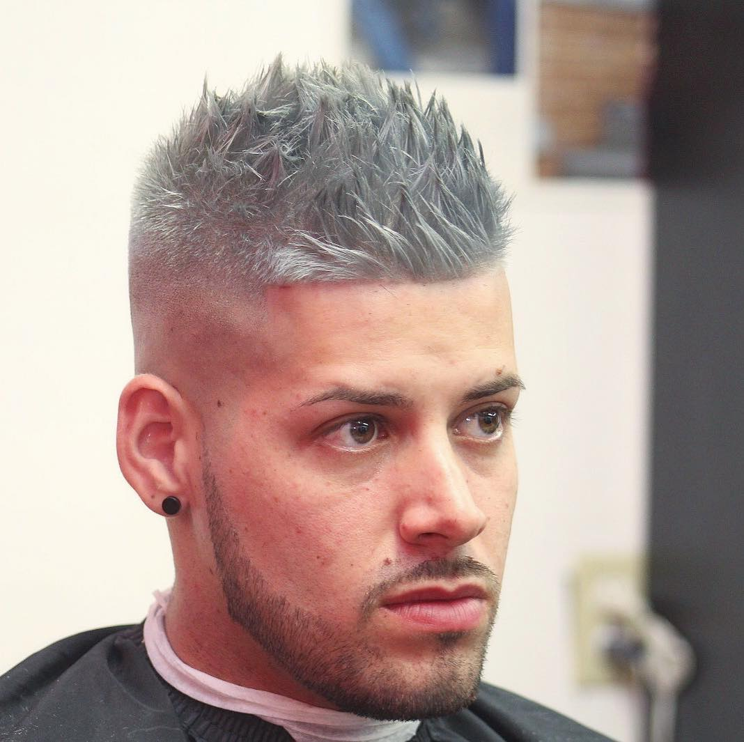 barbernathen Mens Hairstyles For Thin Hair spiky silver color hair