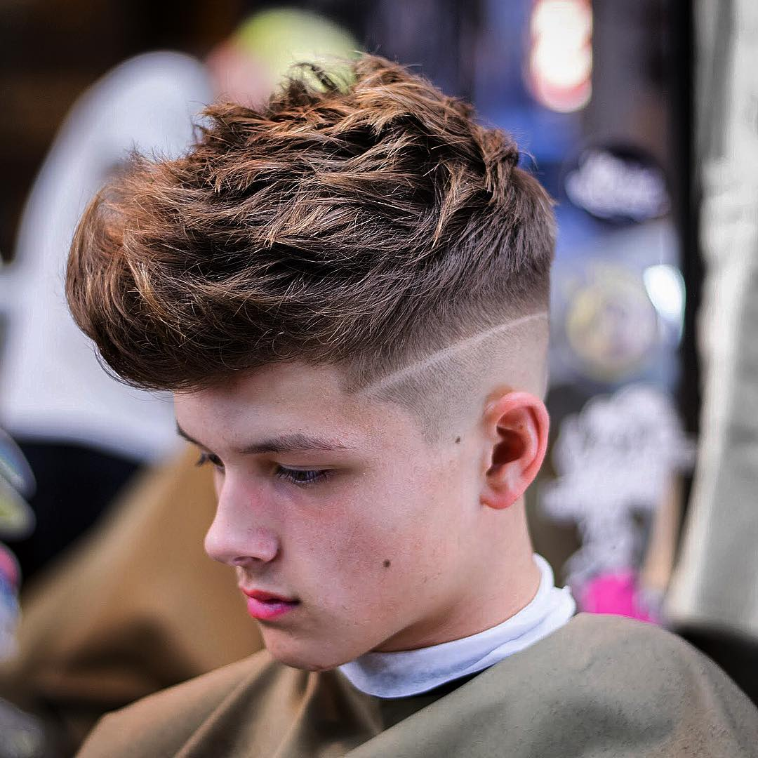 jarredsbarbers Mens Medium Length Hairstyles messy spikes