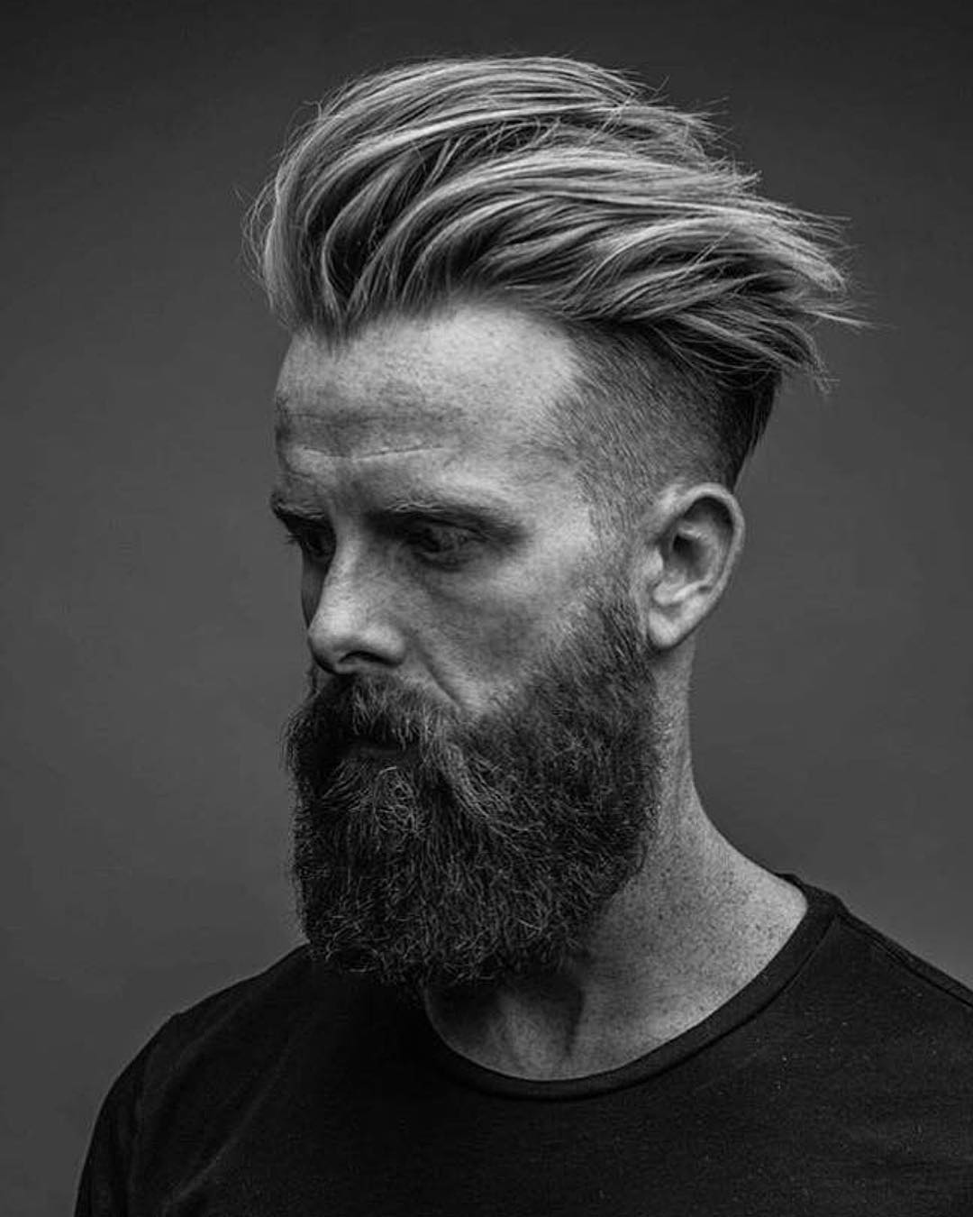 mattyconrad Mens Medium Length Hairstyles high textured spikes beard