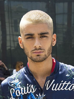 zayn malik haircut in paris fashion show