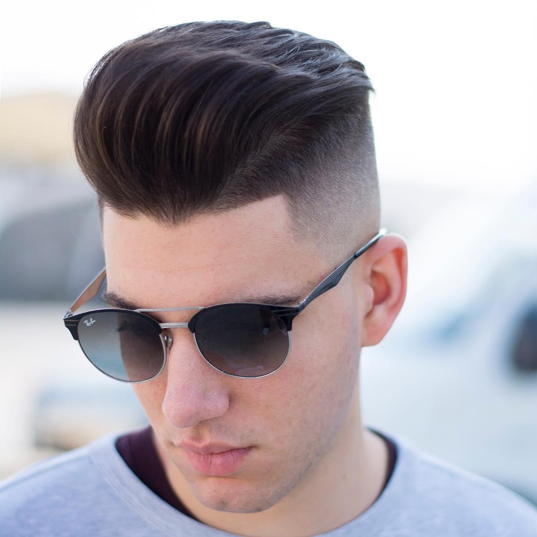 javi_thebarber_ cool bald fade pompadour haircut