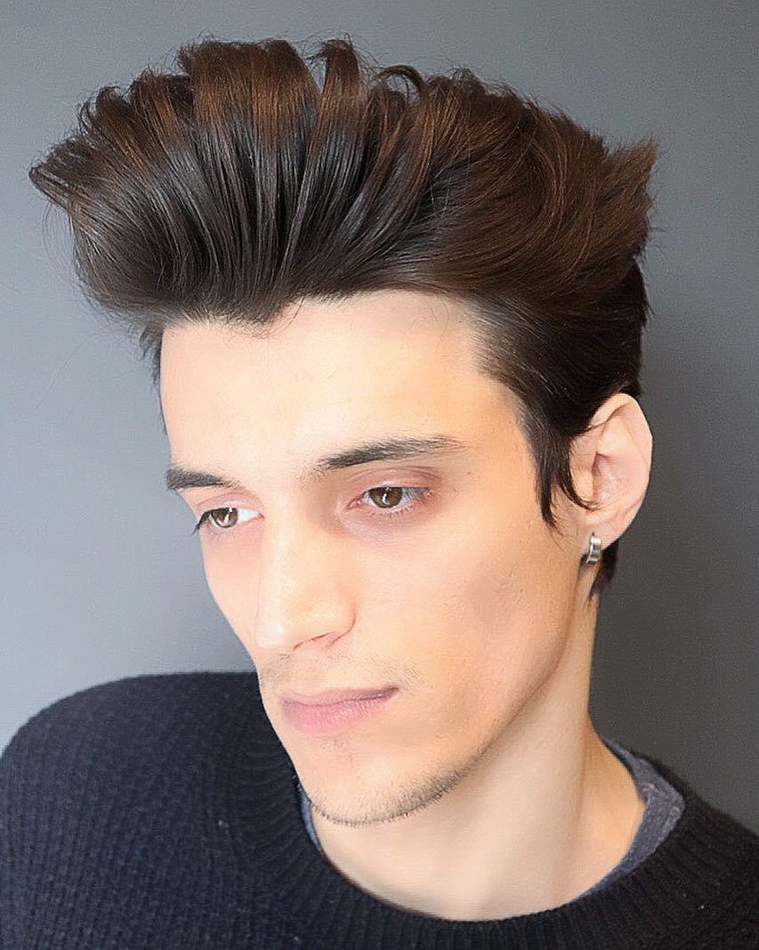 joshlamonaca modern long pompadour haircut 2018