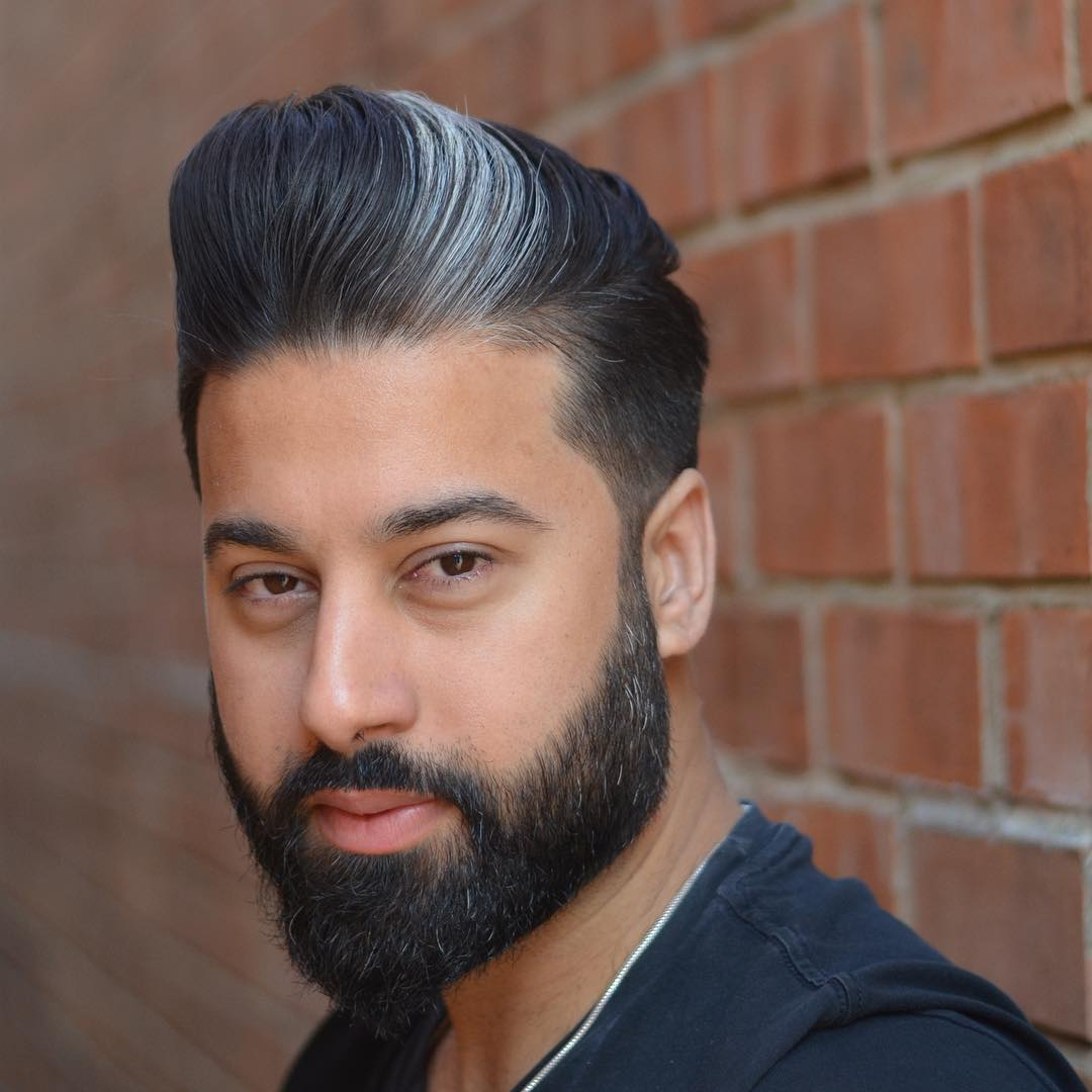 mattjbarbers cool low fade pompadour haircut