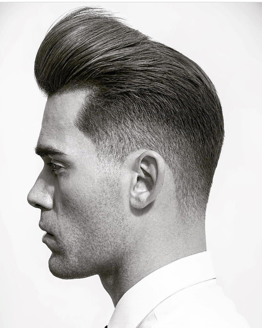 mattyconrad faded pomp side part pompadour haircut