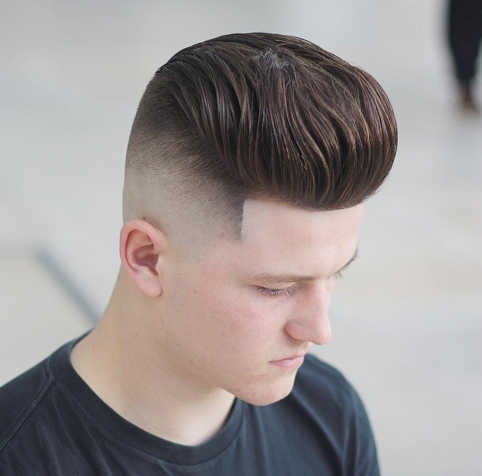 onelovebarber high pomp high fade pompadour haircut for men