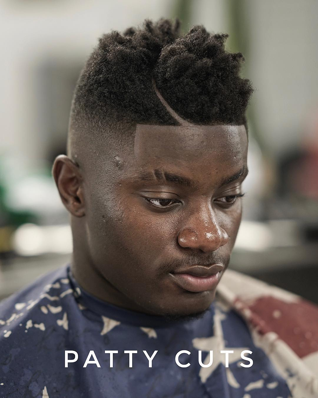 pattycuts high fade moon part black men haircut