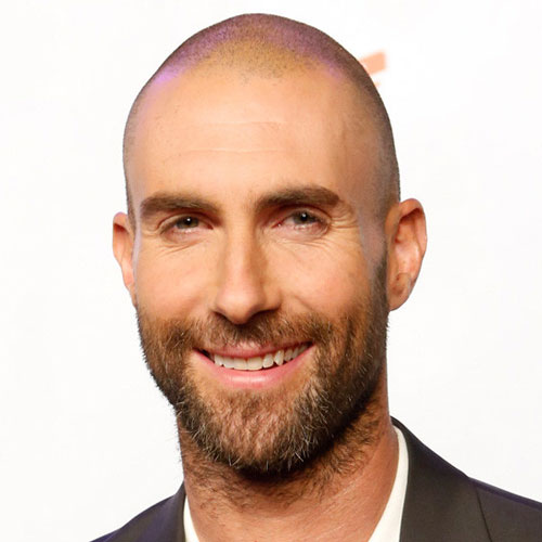Adam Levine bald haircut celebrity hairstyles for men