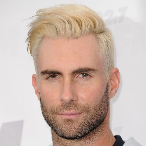 Adam Levine haircut Blonde Hair celebrity hairstyles for men