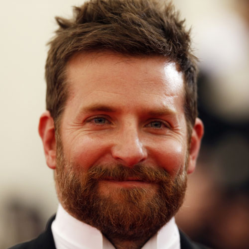 Bradley cooper beard short hair celebrity hairstyles for men