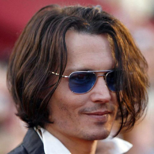Johnny Depp haircut celebrity hairstyles for men