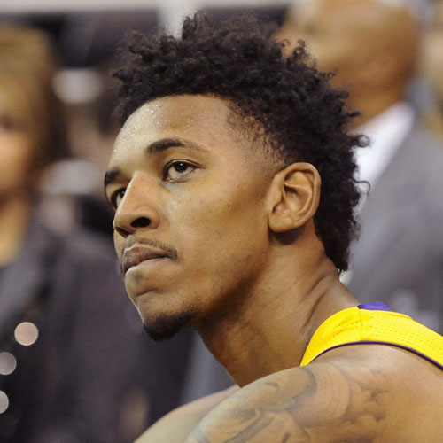 Nick Young haircut temple fade celebrity hairstyles for men