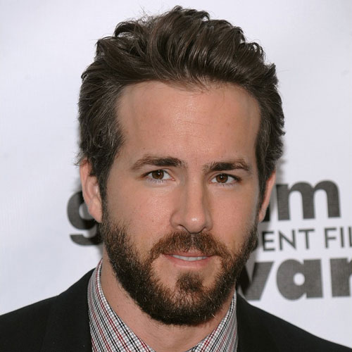 Ryan Reynolds long haircut beard celebrity hairstyles for men