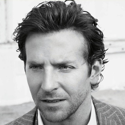 bradley cooper haircut messy long length hair