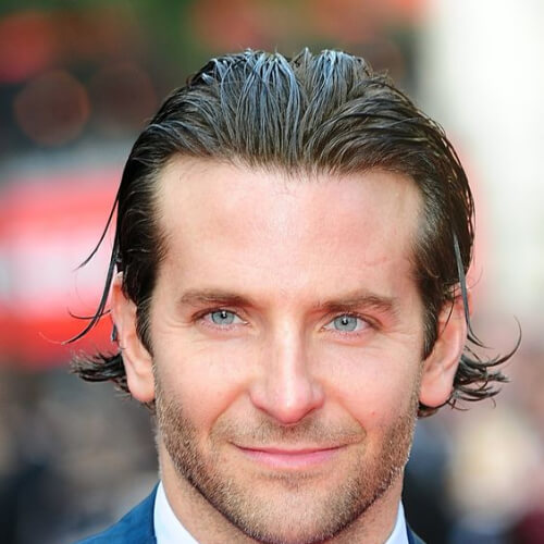 bradley cooper haircut wet long textured haircut