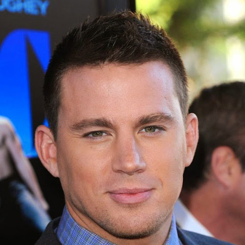 channing tatum buzz haircut side part low fade haircut