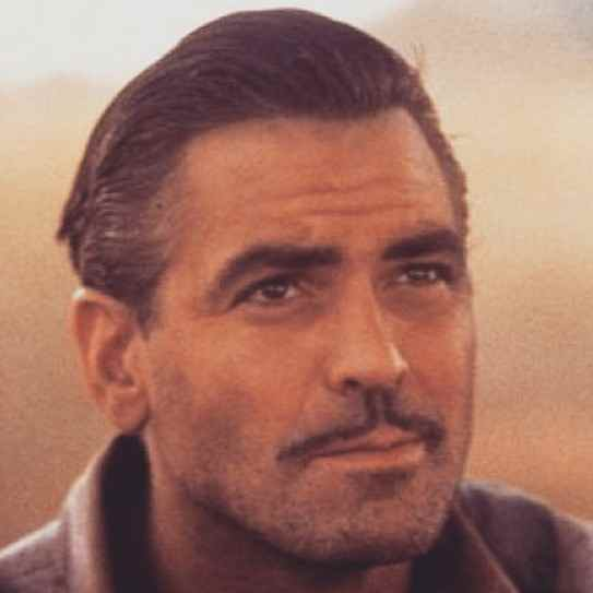 george clooney haircut pompadour slicked back haircut