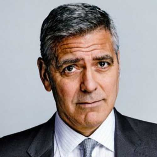 george clooney haircut soft comb over hairstyle